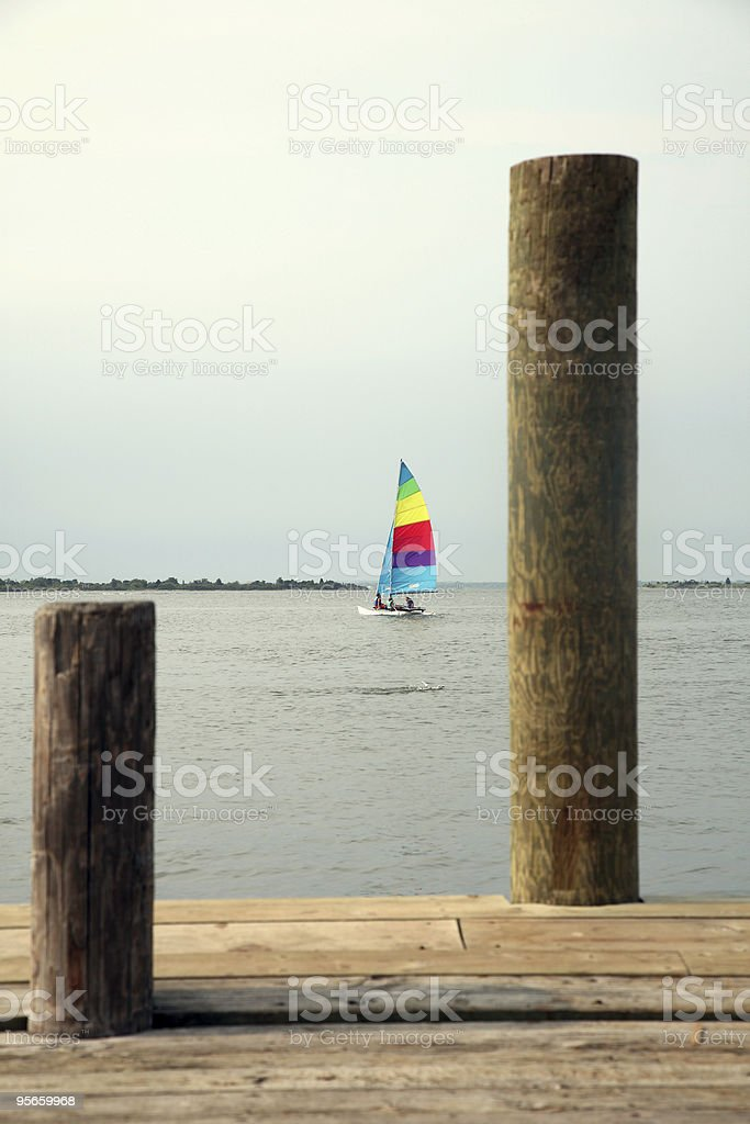 Sailboat In The Distance stock photo