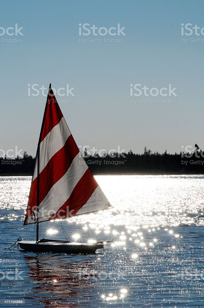 Sailboat in the Evening stock photo