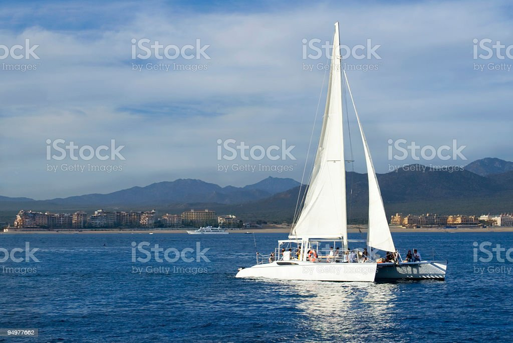 Sailboat in the Sea of Cortes royalty-free stock photo