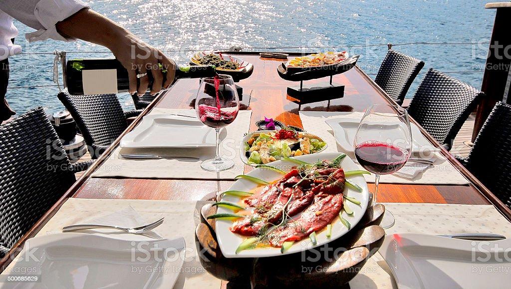Sailboat Lounge stock photo