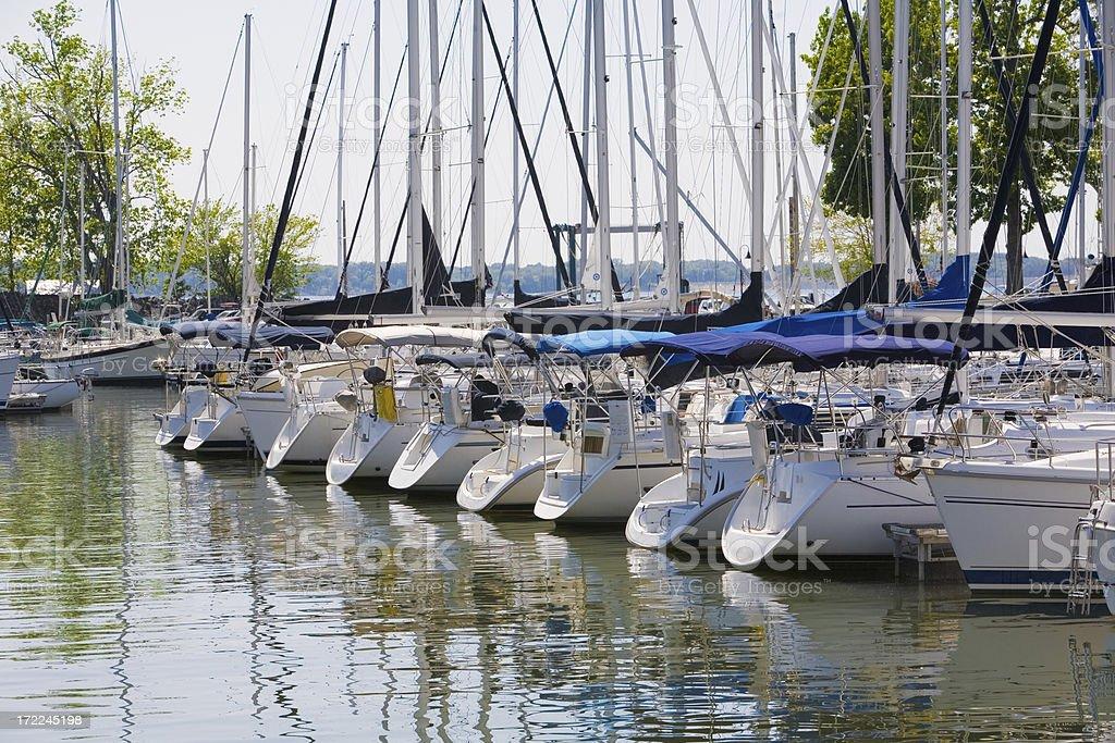 Sailboat Marina royalty-free stock photo