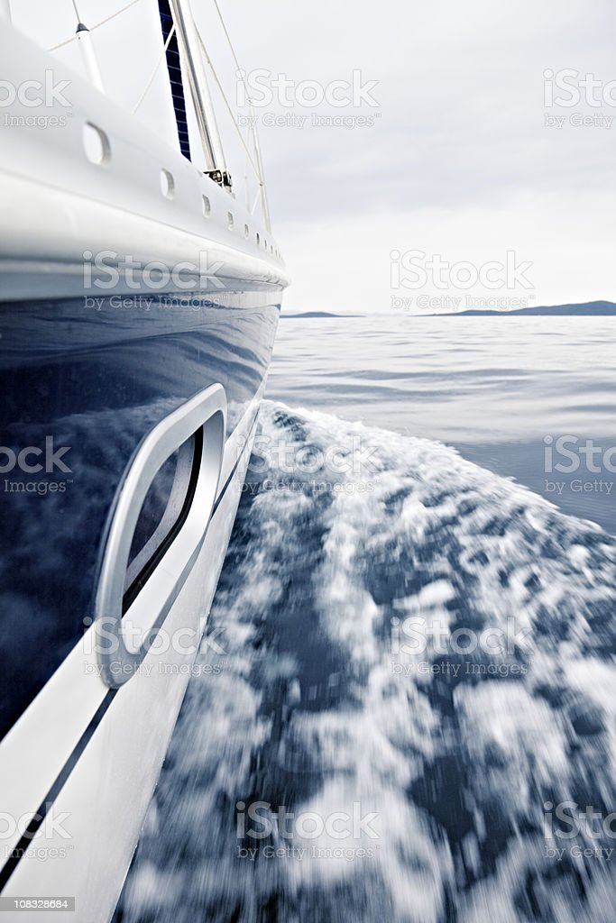 Sailboat moving royalty-free stock photo