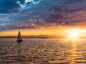 Sailboat on Elliott Bay