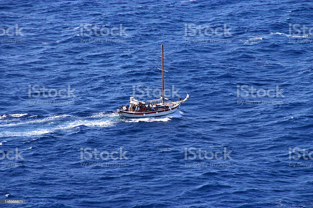 Sailboat on the Sea royalty-free stock photo