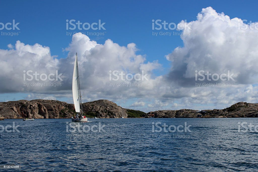 SEGELBOOT stock photo