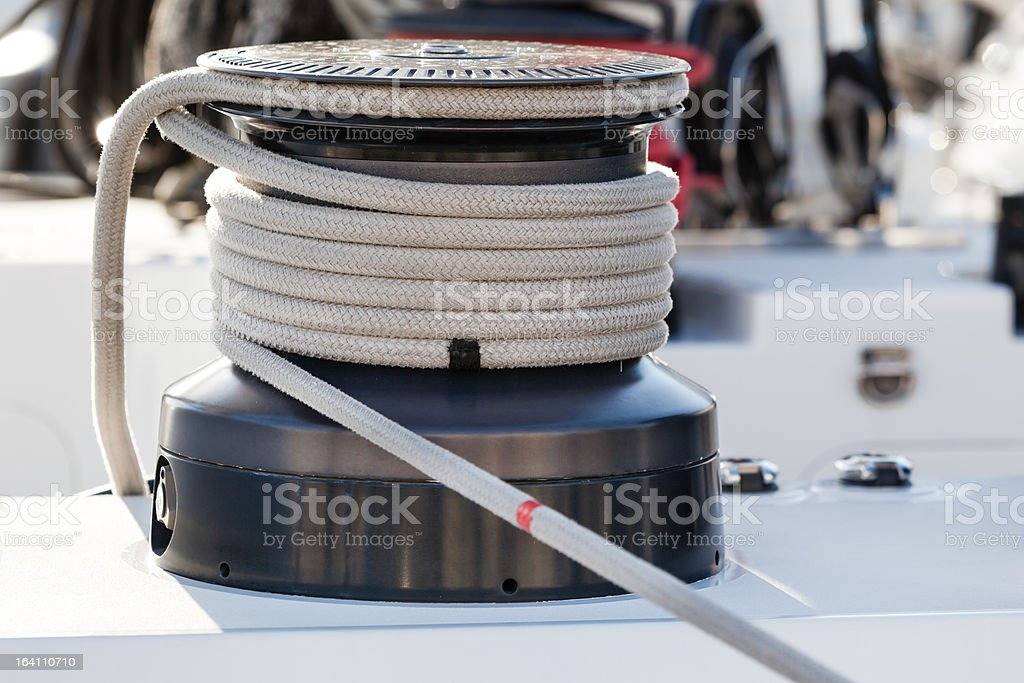 Sailboat Rope Bight royalty-free stock photo