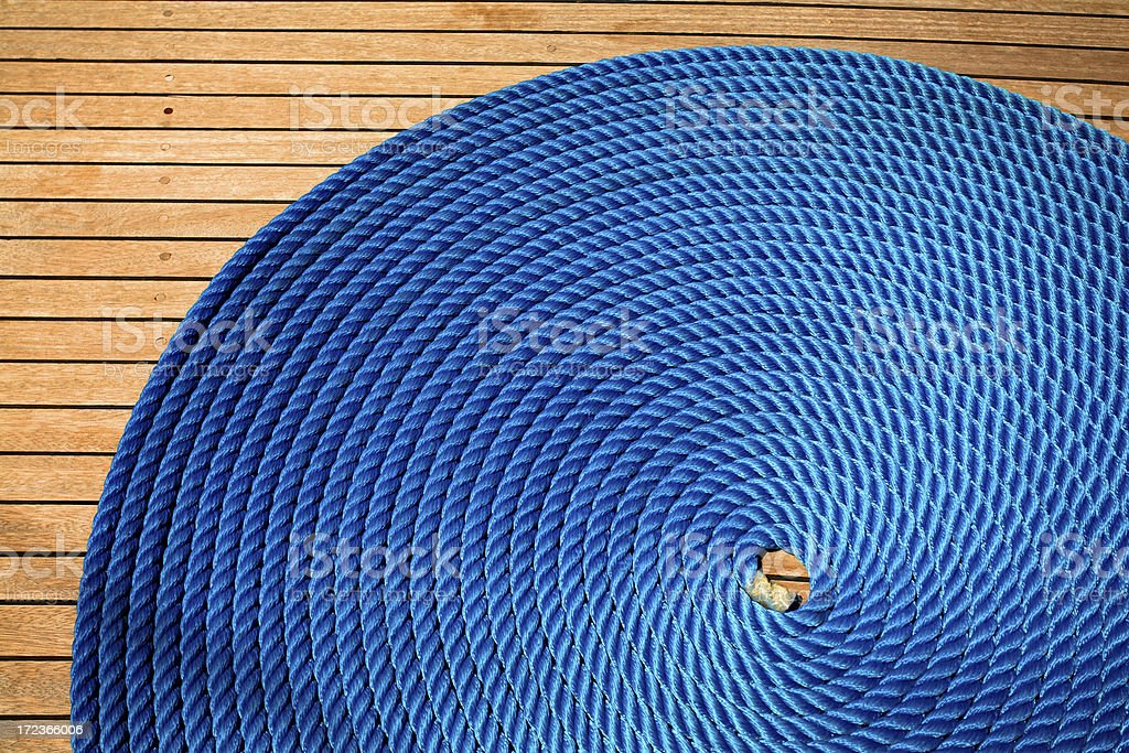 Sailboat Rope royalty-free stock photo