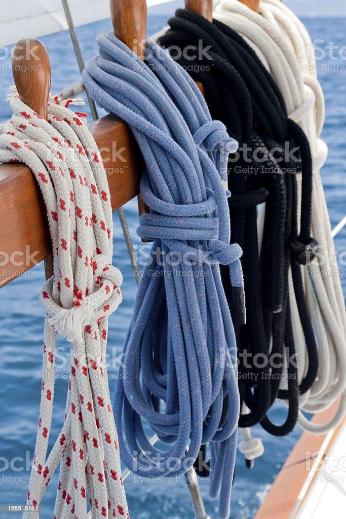 Sailboat Ropes royalty-free stock photo