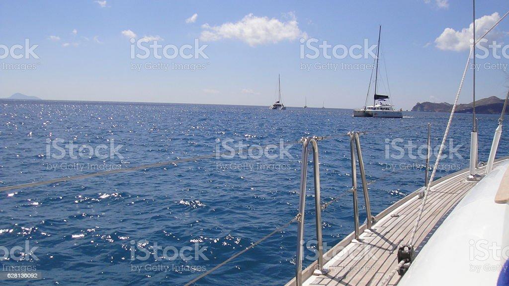 sailboat, sea, sail, outdoor, nautical, ocean stock photo