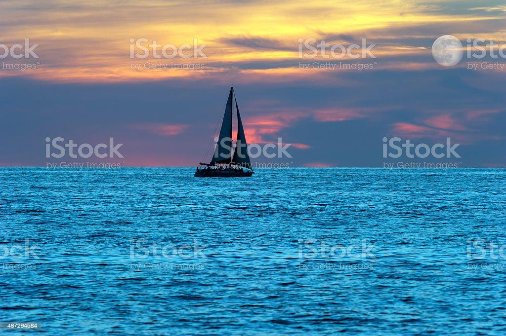 Sailboat Silhouette stock photo