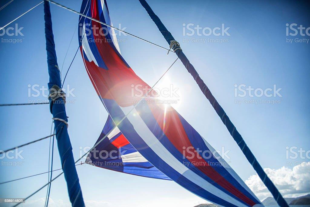 Sailboat Spinnaker stock photo