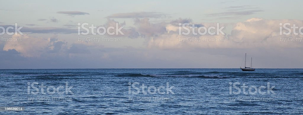 Sailboat sunrise royalty-free stock photo