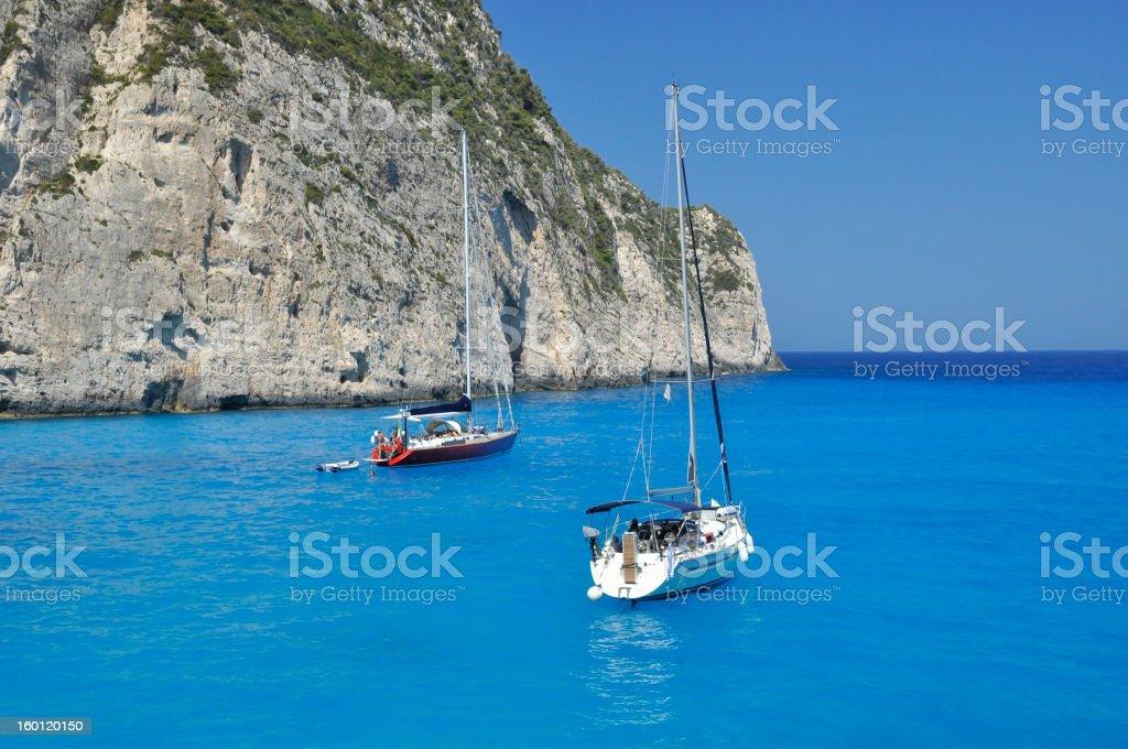 Sailboating royalty-free stock photo