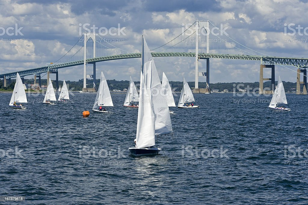 Sailboats Everywhere stock photo