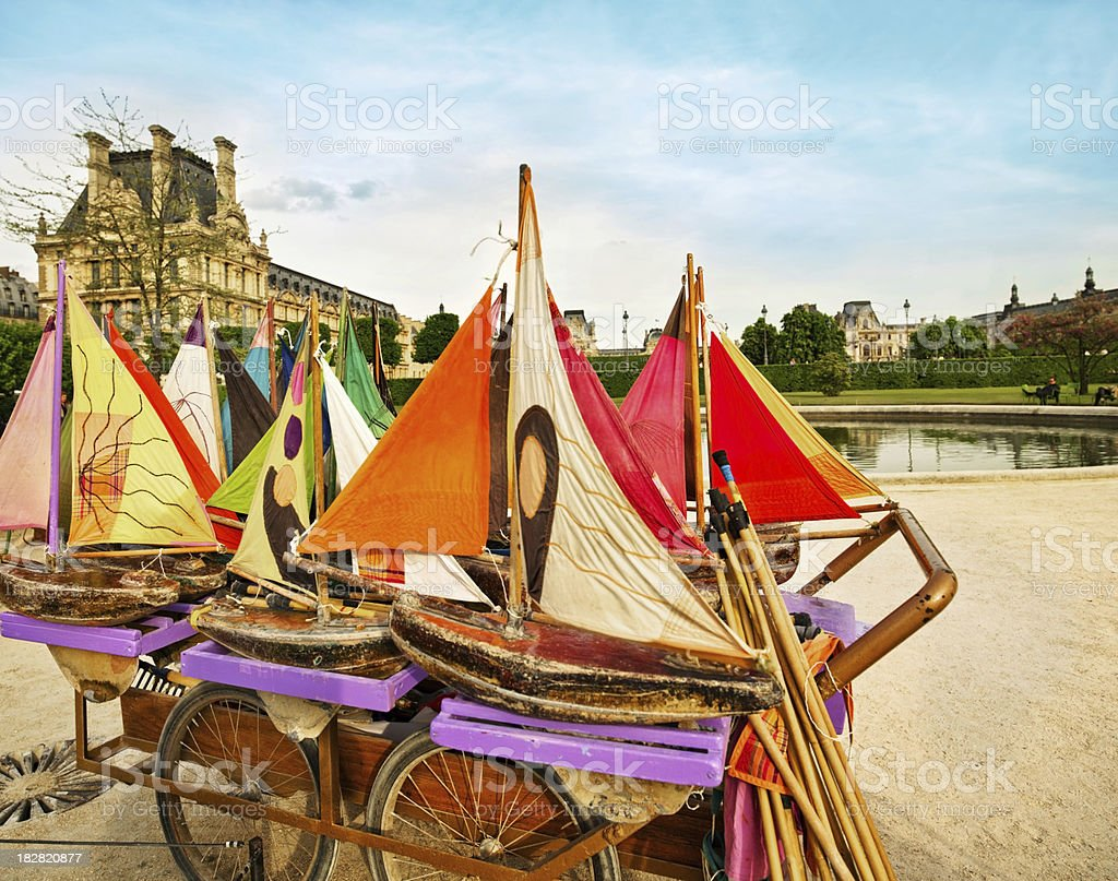 Sailboats for rent in Paris stock photo
