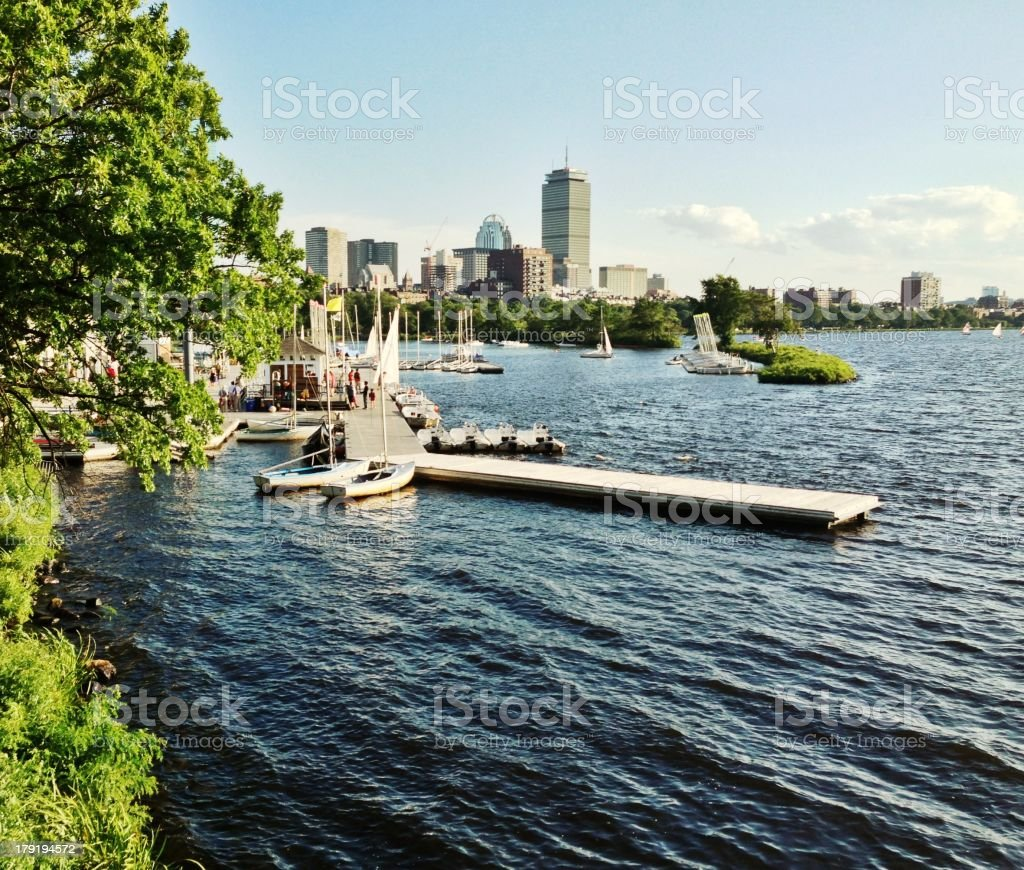 Sailboats in Charles River, Boston, Massachusetts royalty-free stock photo