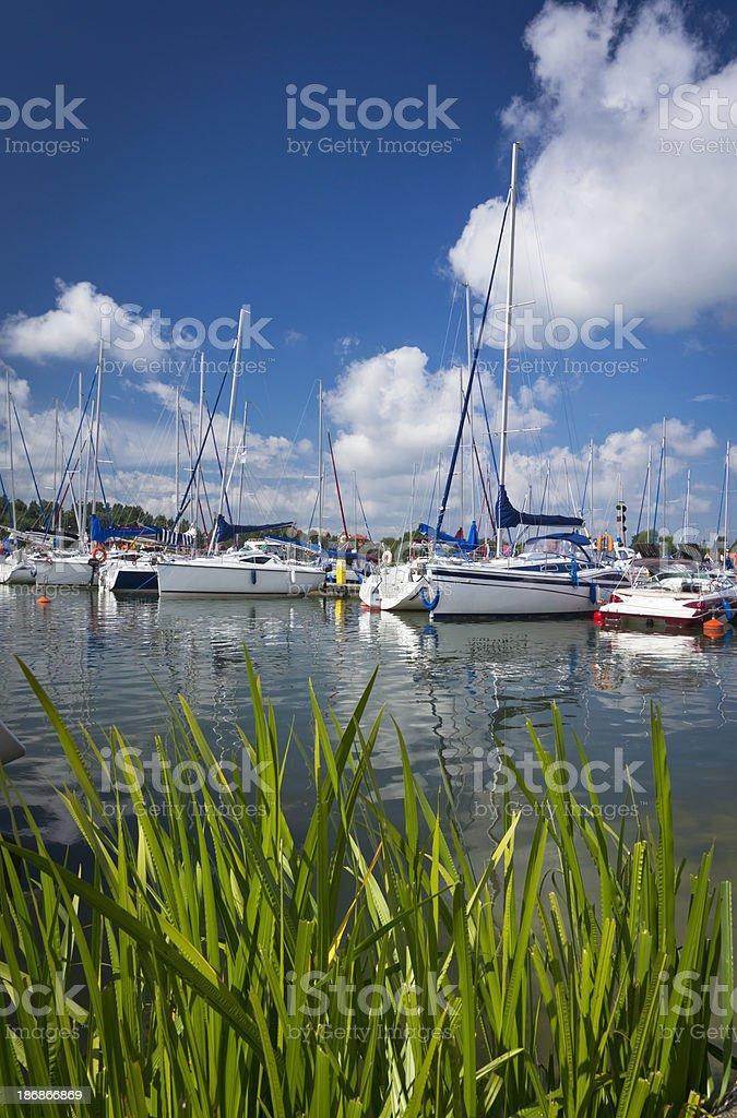 Sailboats in Marina royalty-free stock photo