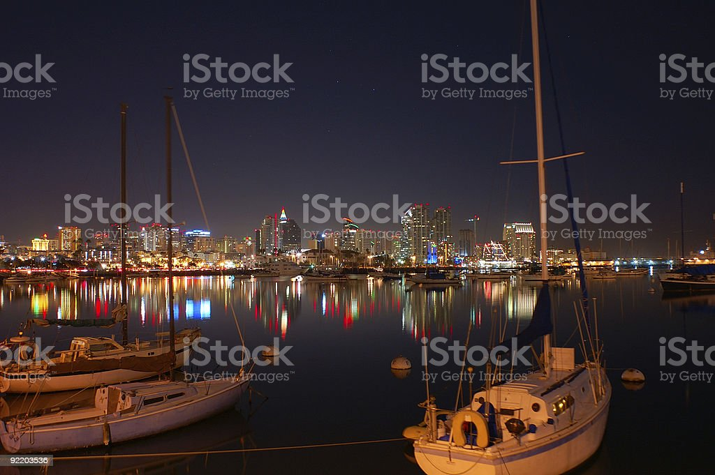 Sailboats in San Diego stock photo