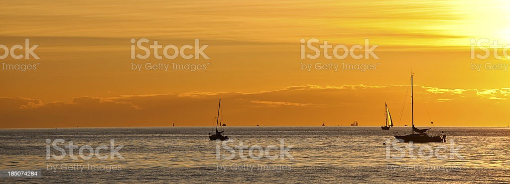 Sailboats in the Harbour royalty-free stock photo