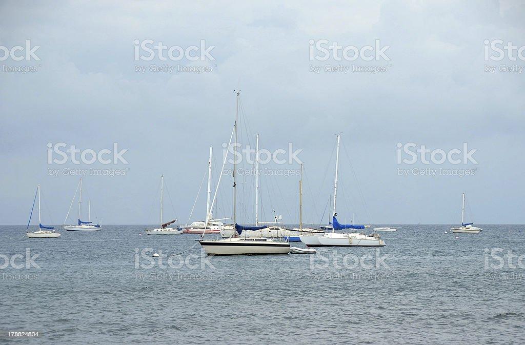 Sailboats near Maui, Hawaii royalty-free stock photo