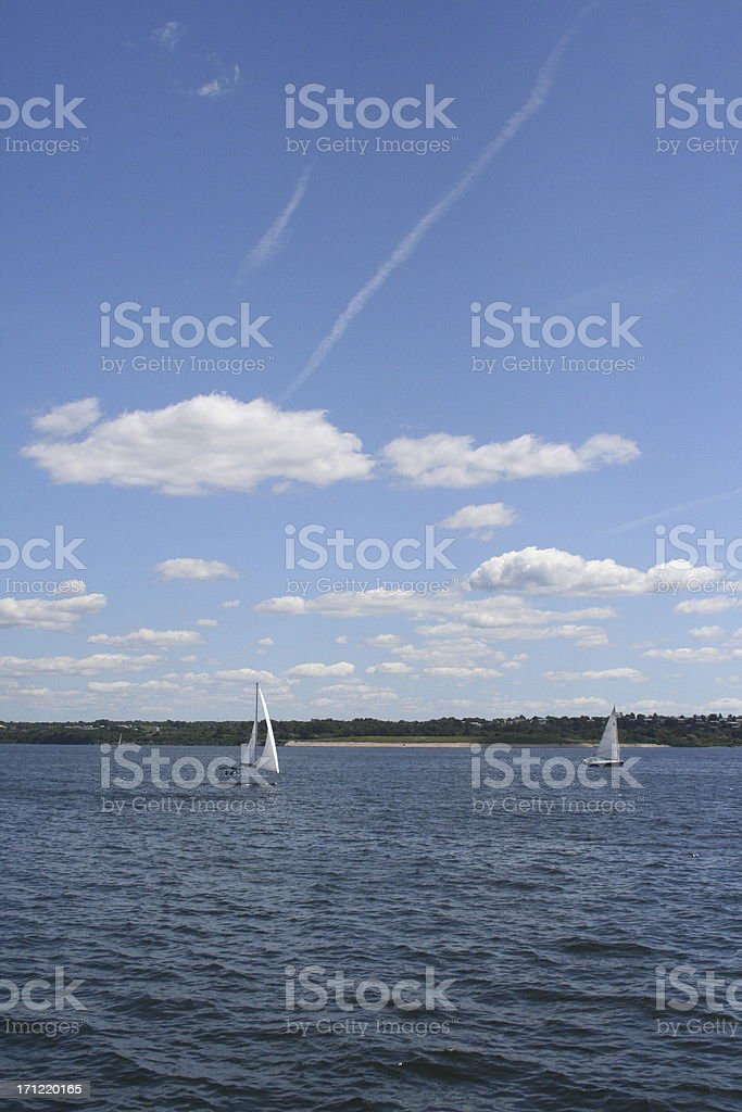 sailboats near newport royalty-free stock photo
