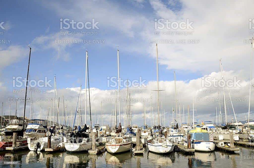 Sailboats royalty-free stock photo