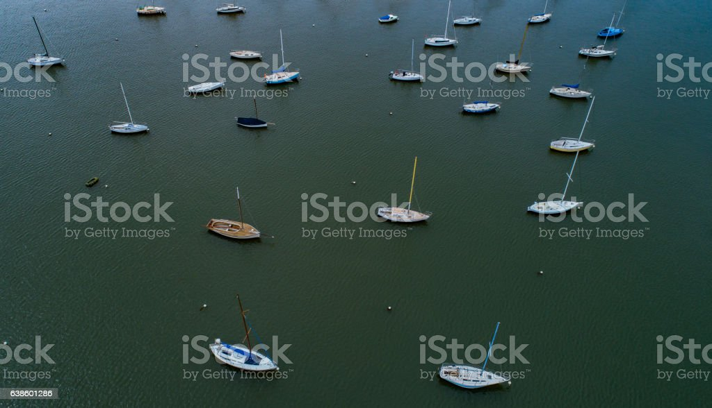 Sailboats stock photo