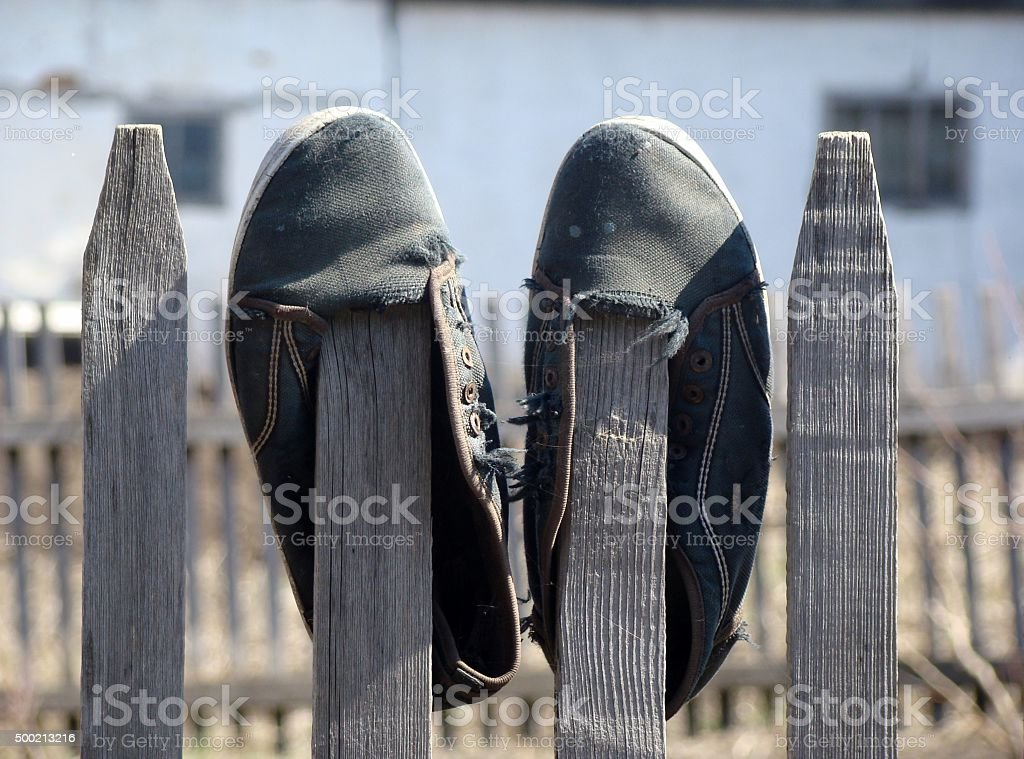 Sailcloth shoes stock photo