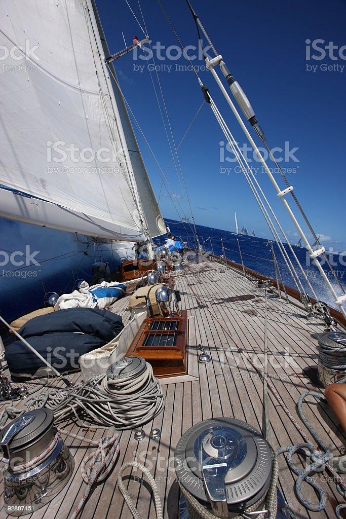 Sailing at good wind. royalty-free stock photo