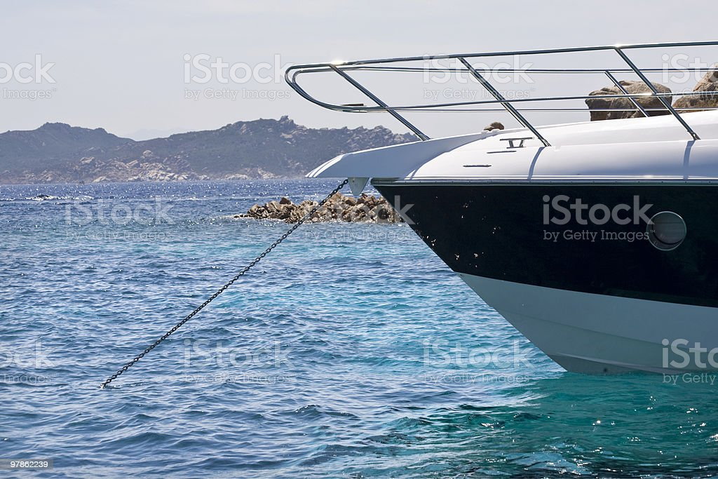 Sailing at La Maddalena royalty-free stock photo
