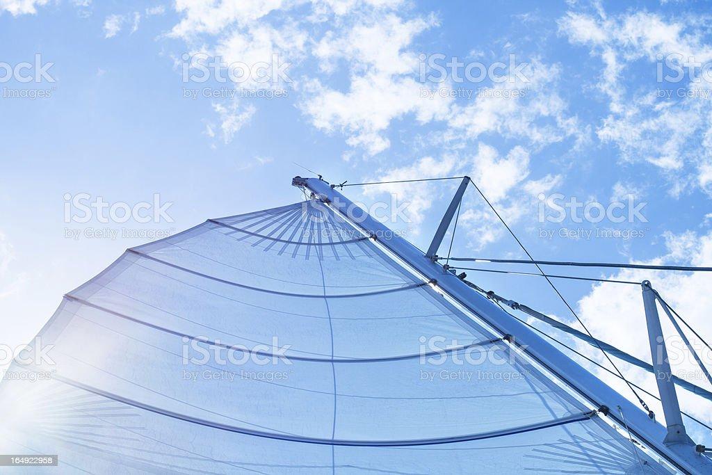 Sailing at Sea royalty-free stock photo