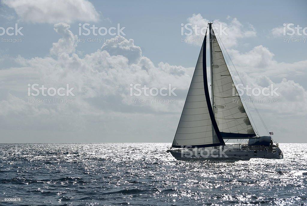 Sailing at Speed stock photo