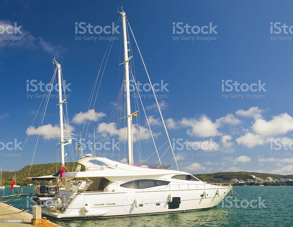 sailing away. royalty-free stock photo