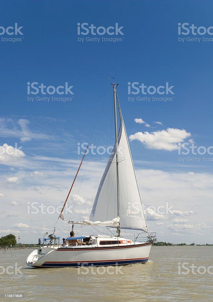 Sailing away stock photo