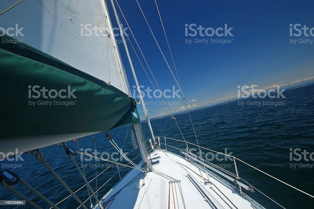 sailing away royalty-free stock photo