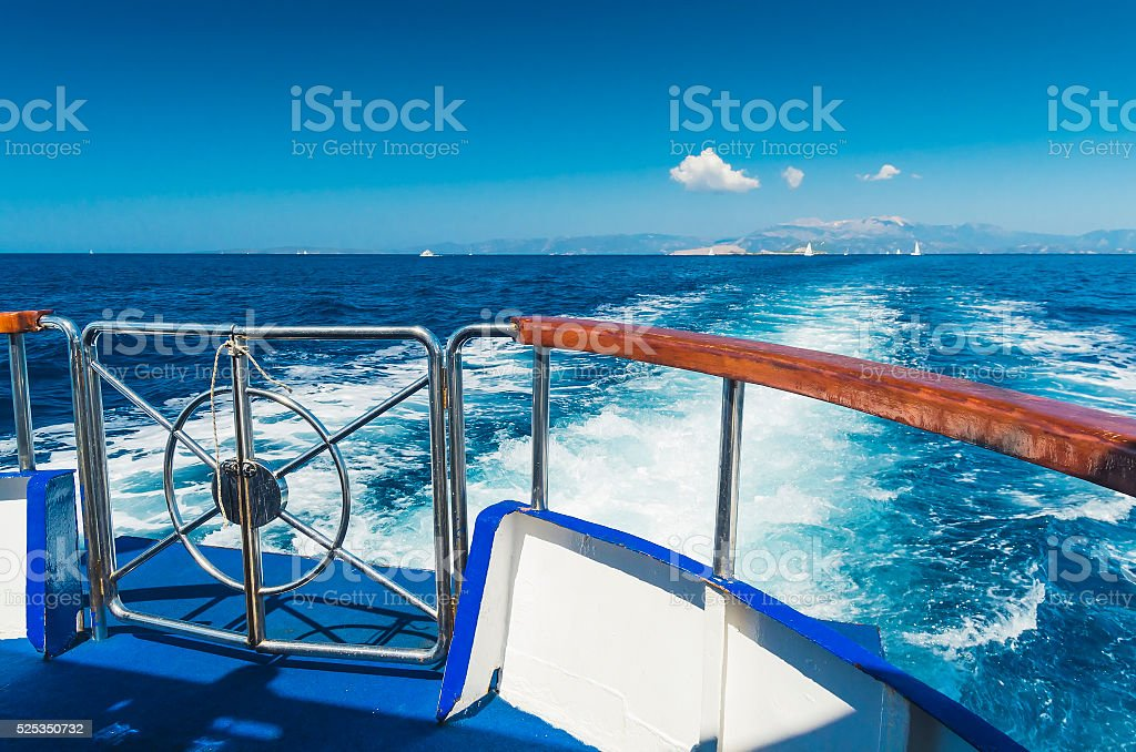 Sailing away stock photo
