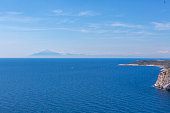 Sailing between Samothraki  island near alexandroupoli greece