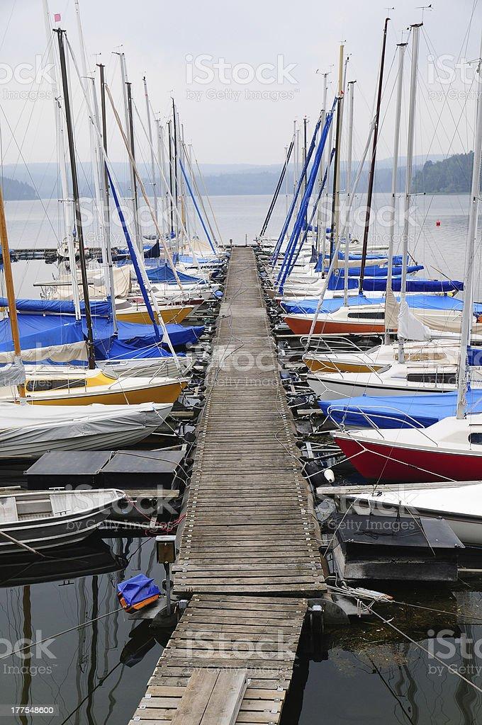 Sailing boat and reeling royalty-free stock photo