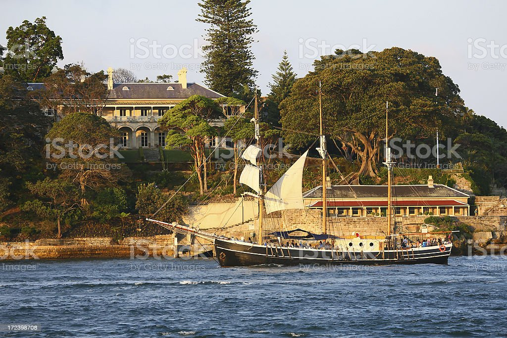 Sailing Boat at Sydney royalty-free stock photo