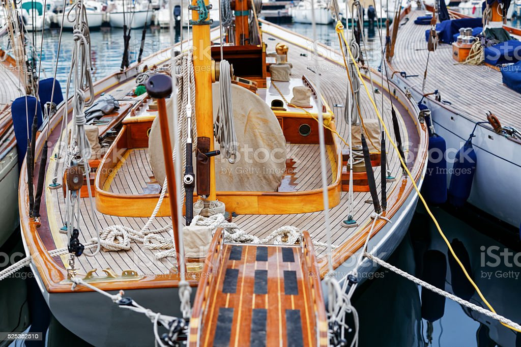 Sailing boat, Cannes stock photo