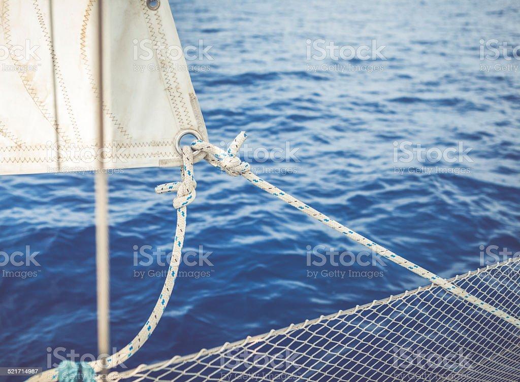 Sailing Boat details stock photo