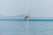 Sailing boat in Greece, Palaia Epidaurus
