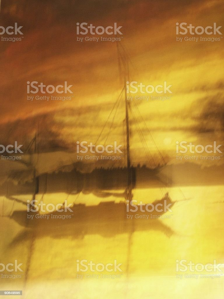 sailing boat in the sunset royalty-free stock photo