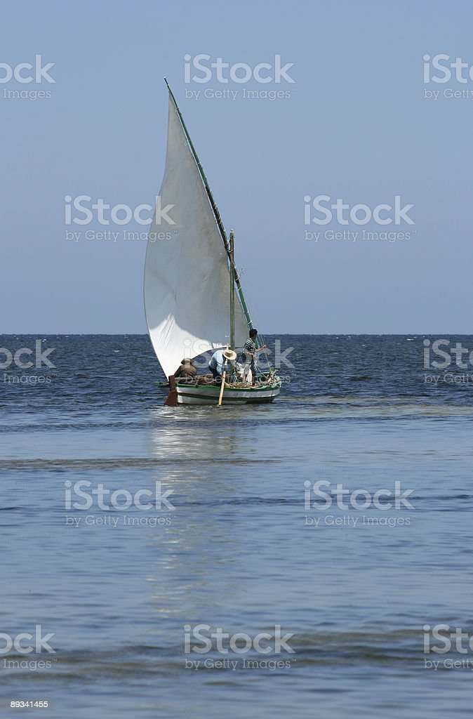 Sailing boat in Tunisia-Africa stock photo
