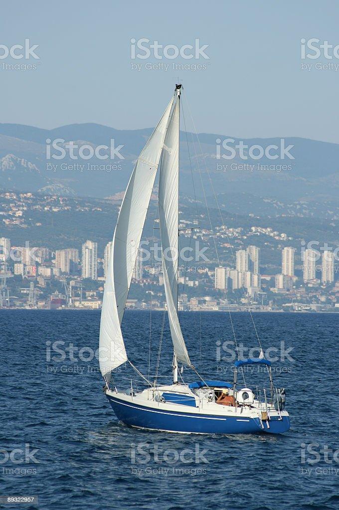 sailing boat stock photo