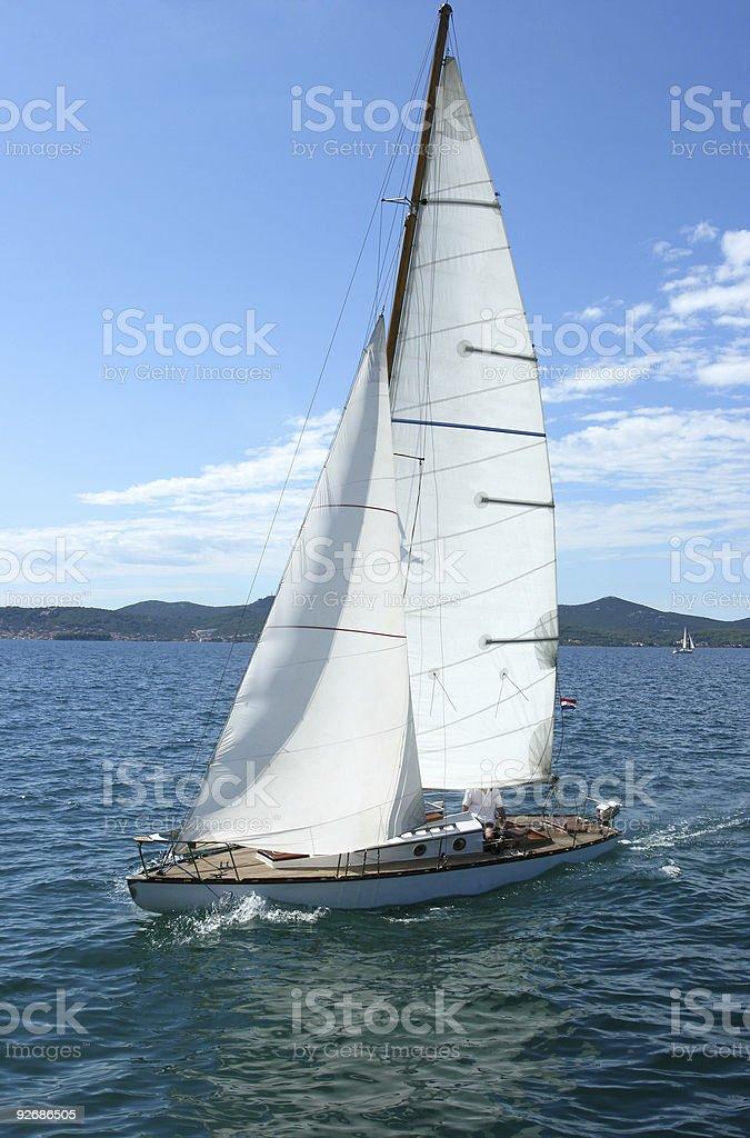 Sailing boat (Zadar-Croatia) royalty-free stock photo