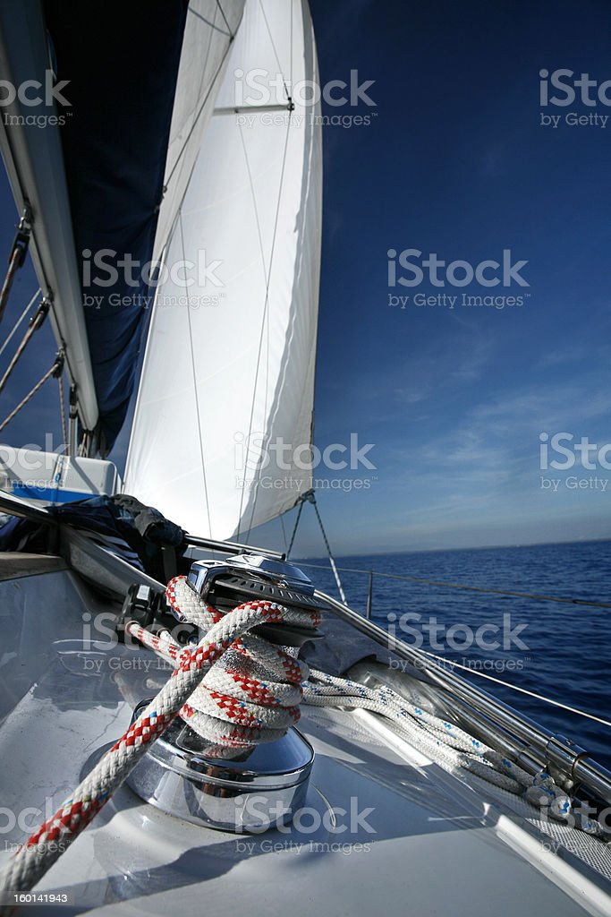 Sailing Boat Rope Detail royalty-free stock photo