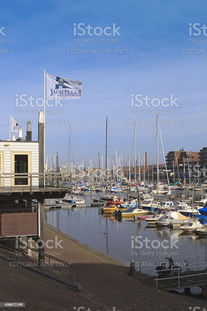 sailing boats in the marina of Scheveningen royalty-free stock photo