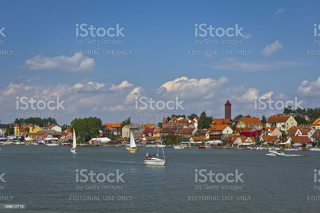 Sailing boats on the Sniardwy lake royalty-free stock photo