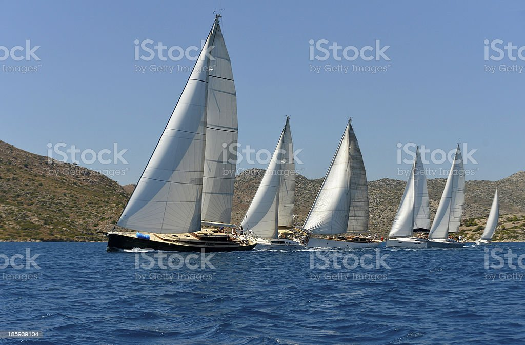 Sailing Boats stock photo